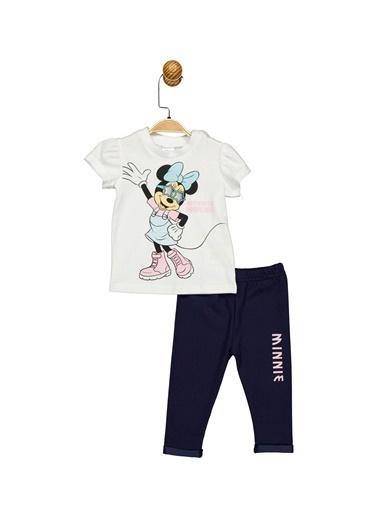 Minnie Mouse Lisanslı Bebek Takım 17462 Beyaz